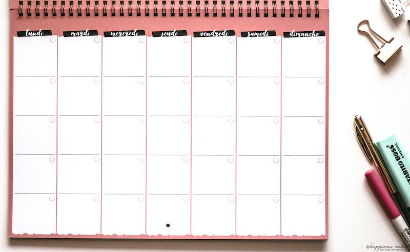 mon bullet calendrier planning