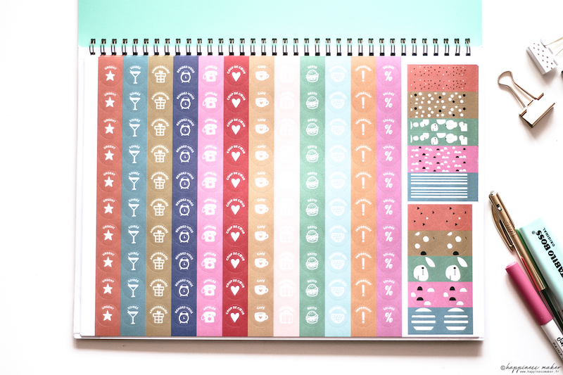 mon bullet calendrier stickers