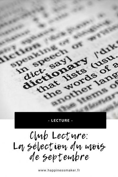 club lecture développement personnel méditation s