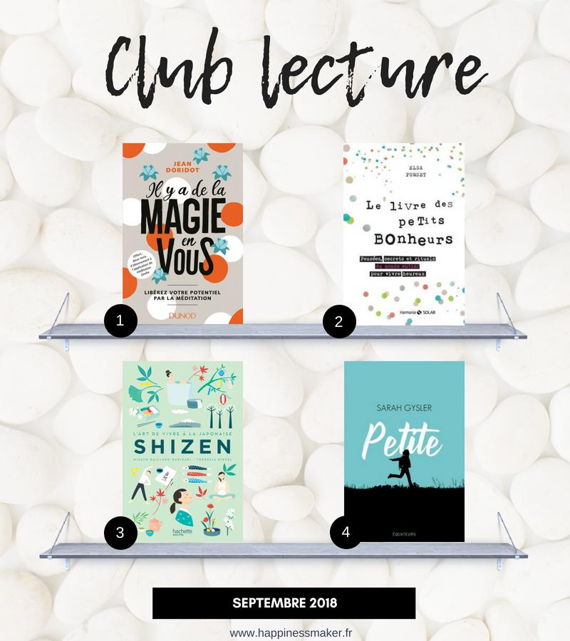 club lecture septembre livres bien etre shizen magie en vous petits bonheurs