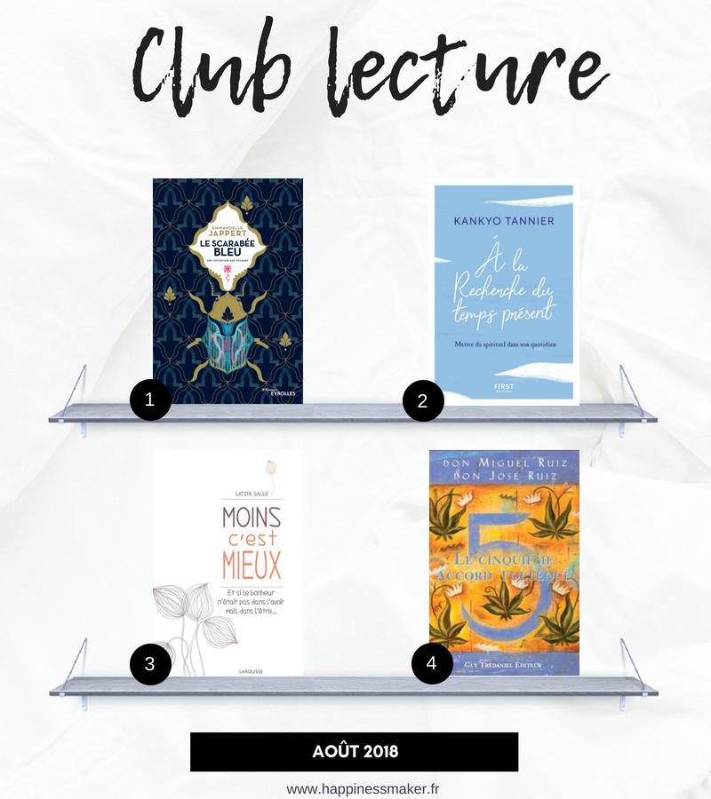 idées livres de développement personnel a lire club lecture
