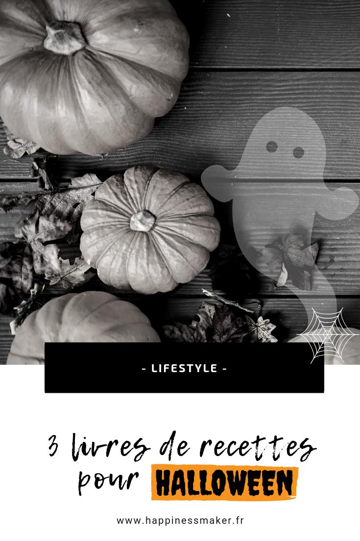 3 livres de recettes pour halloween