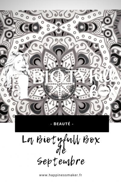 biotyfull box de septembre 2018