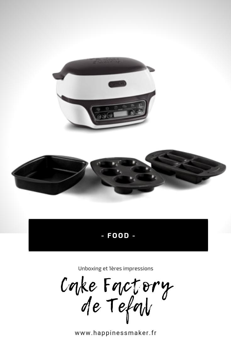 Cake Factory de Tefal avis idées recettes pour commencer