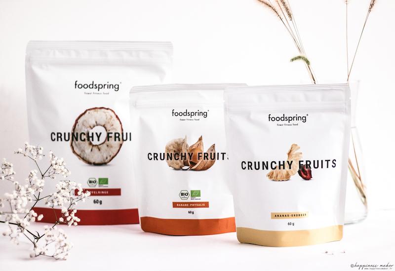 foodspring avis produits crunchy fruits