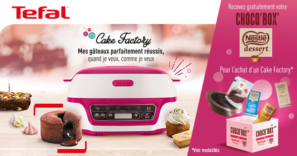 Offre chocobox de tefal cake factory
