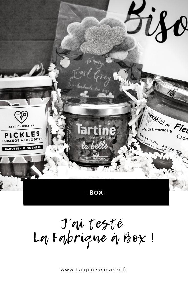 Créer sa box personnalisée avec La Fabrique à Box !