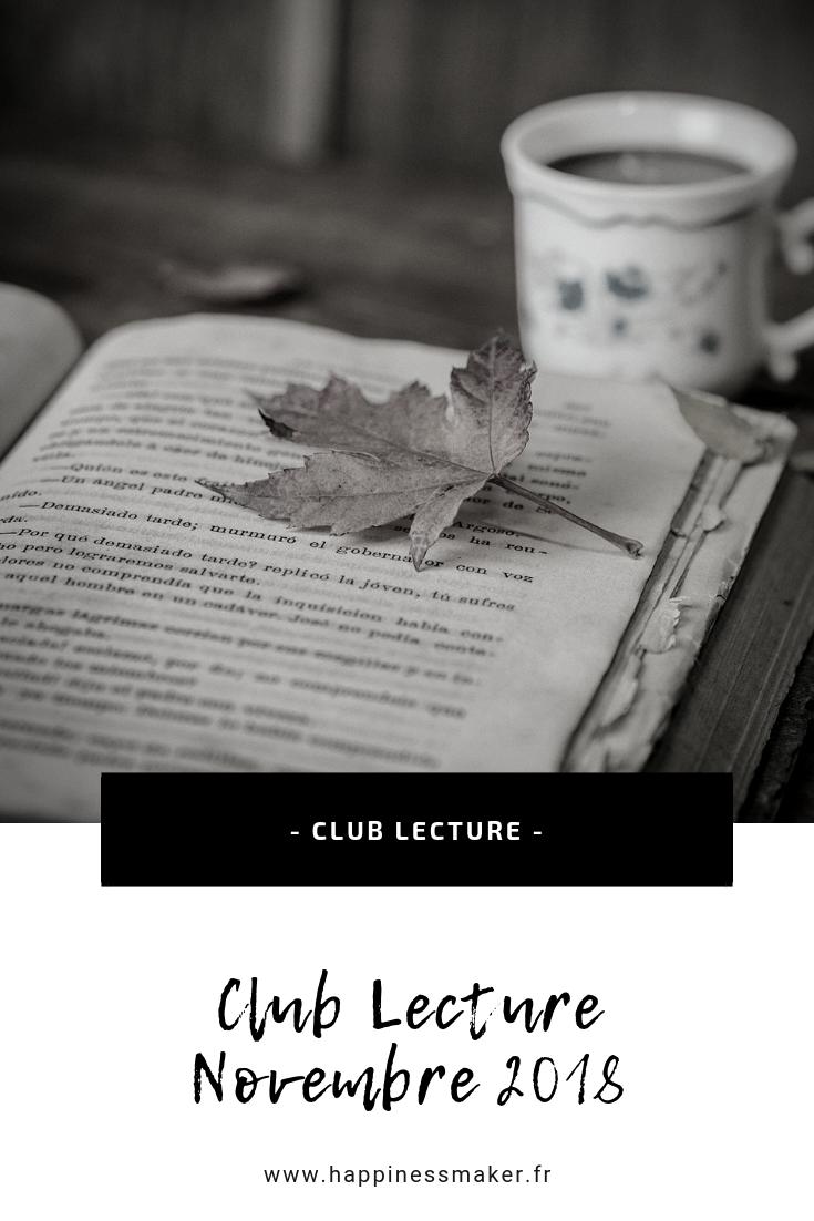 Club Lecture novembre // Cristaux, yoga et lectures inspirantes