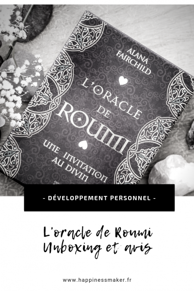 l'oracle de roumi cartes oracle unboxing et avis
