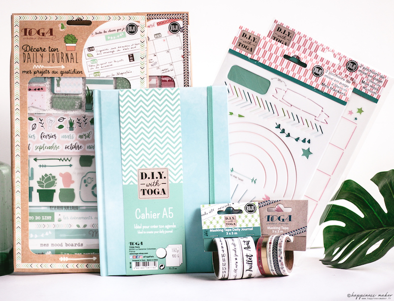 nouveauté toga hygge bullet journal masking tapes