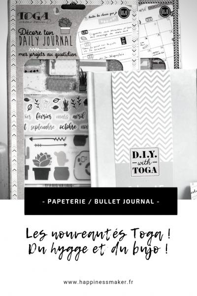 nouveautés toga hygge bullet journal pochoirs