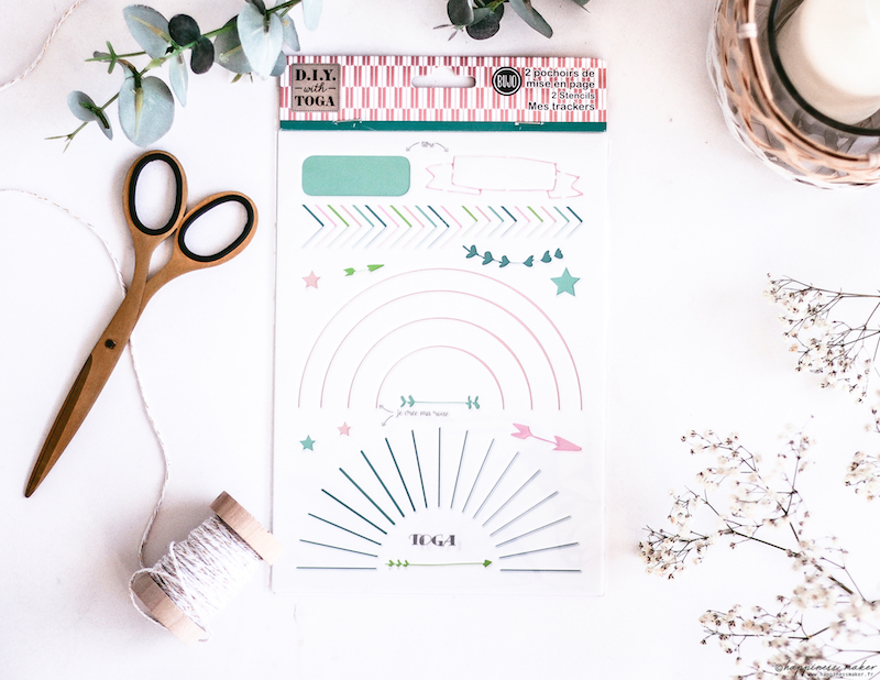 pochoirs bullet journal hygge collection toga 2018
