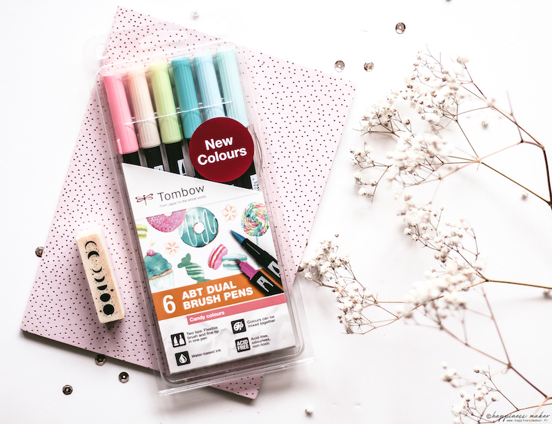 ABT brush pen candy colors tombow kit