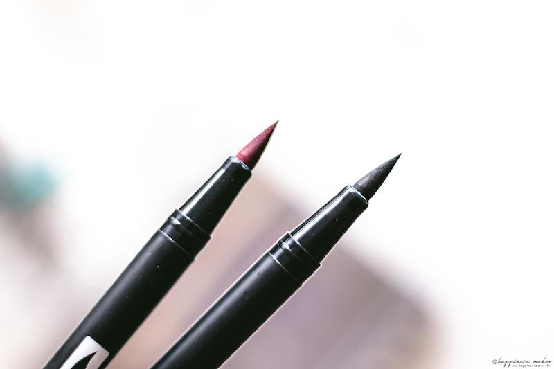 ABT brush pen vintage colors tombow feutres pinceaux