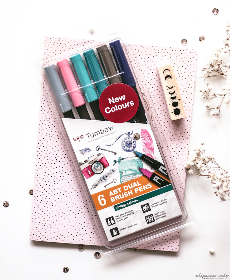 ABT brush pen vintage colors tombow mon avis