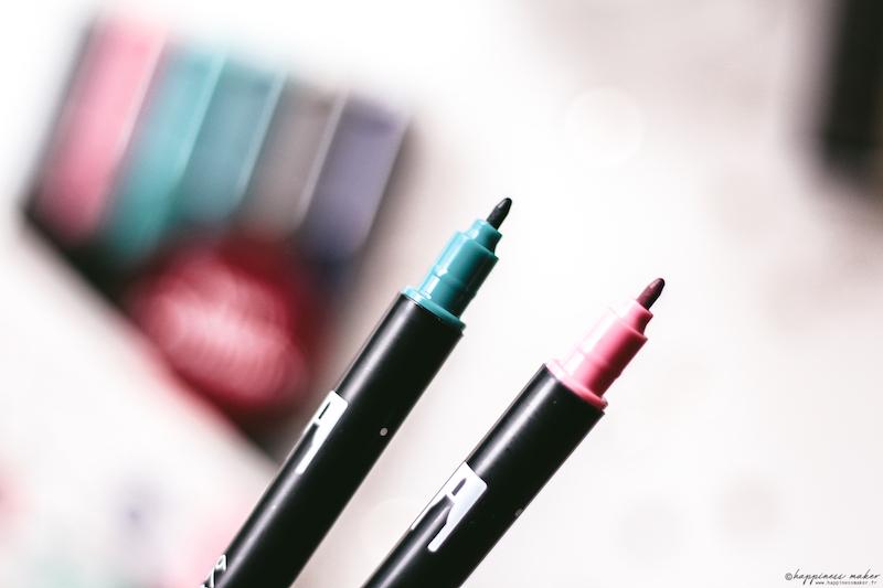 ABT brush pen vintage colors tombow pointes