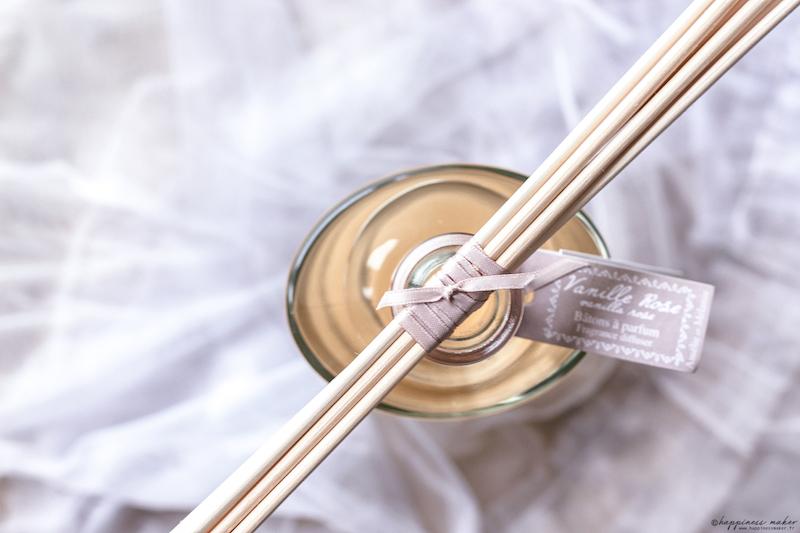 lothantique diffuseur batons vanille rose amelie et melanie