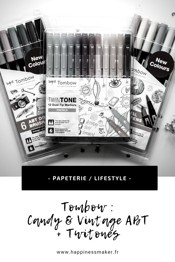 TOMBOW : Découverte des ABT Candy & Vintage colors et Twintones pastel