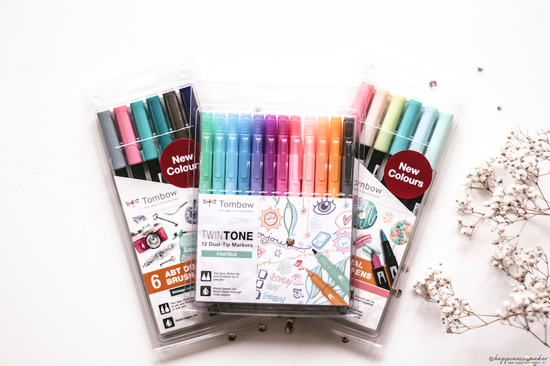 twintones pastel tombow candy vintage colors ABT brush pen