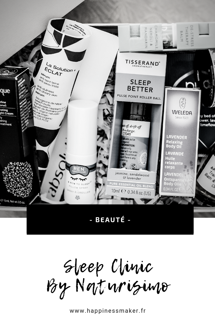 "Sleep Clinic : La box spécial ""sommeil"" par Naturisimo"