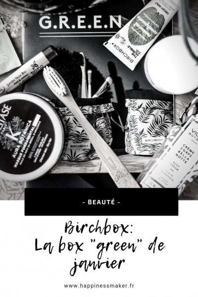 birchbox janvier box green beauty