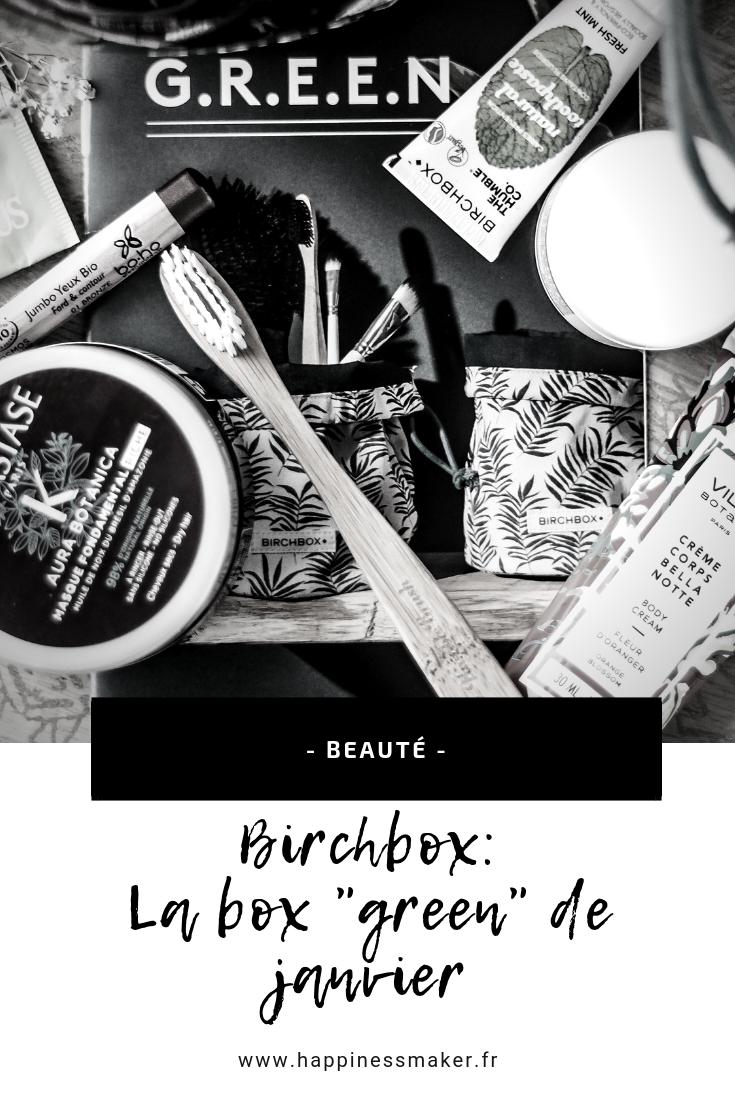 Birchbox green : Une édition réussie !
