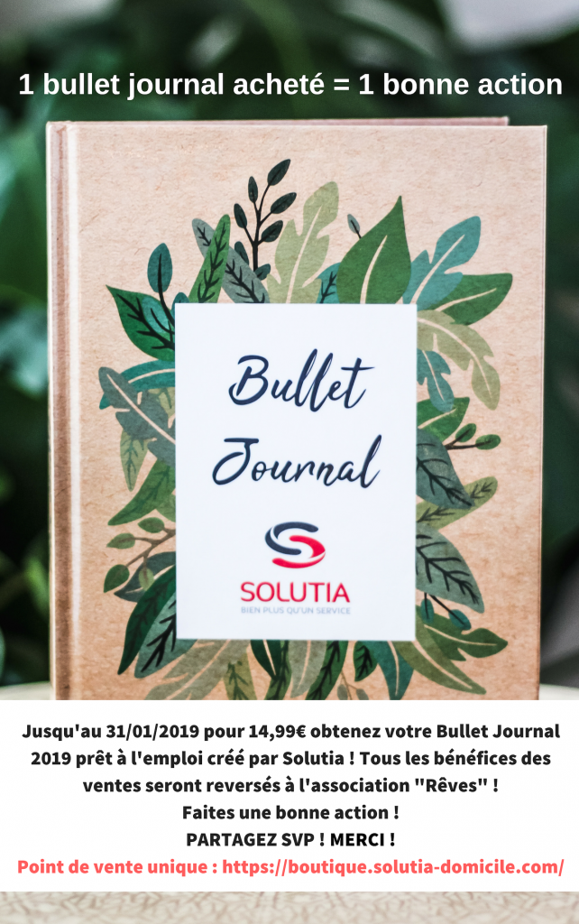 bonne action bullet journal solutia