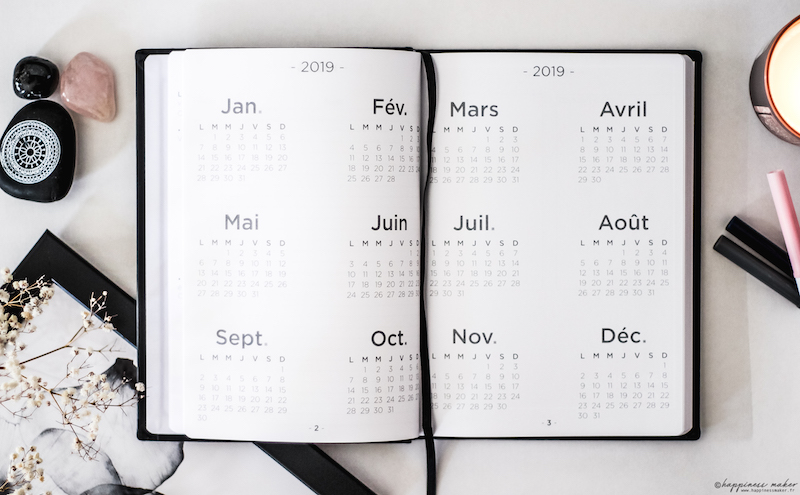 quo vadis life journal harmony calendrier annuel