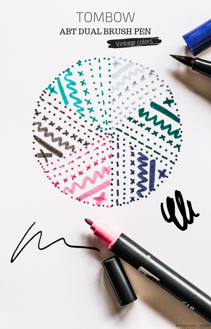 tombow abt dual brush pen vintage colors swatches