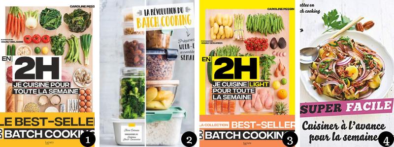 livres batch cooking pour préparer ses repas à l'avance