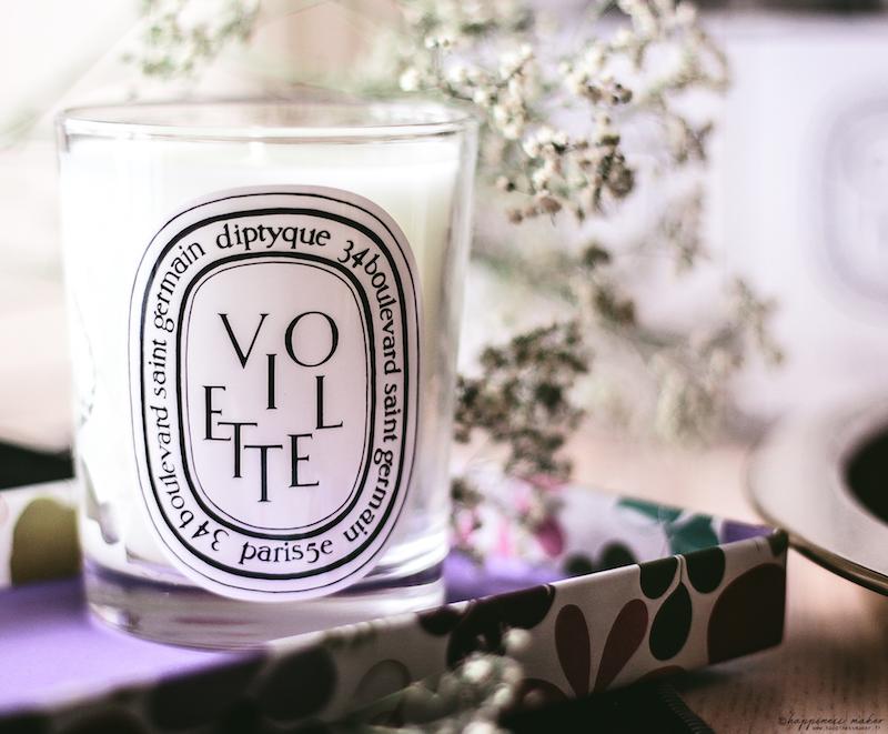 bougie diptyque violette odeur poudrée avis