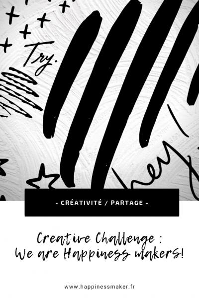 challenge créatif partage