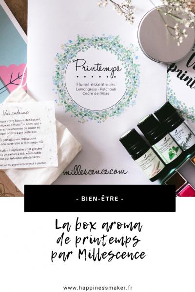 box aroma millescence les huiles essentielles pour le printemps