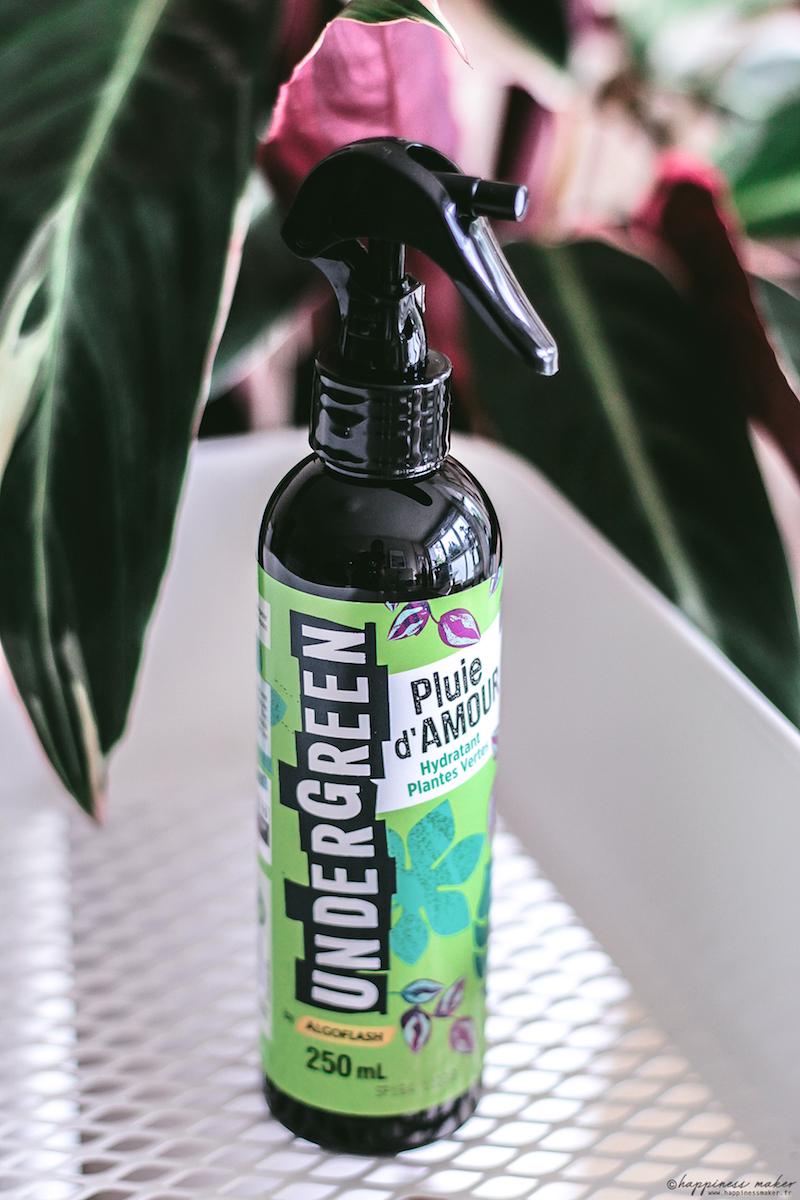 undergreen pluie d'amour spray algoflash avis