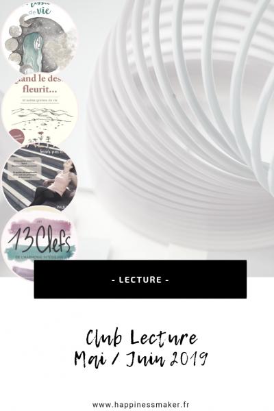 club lecture mai juin blog bien etre