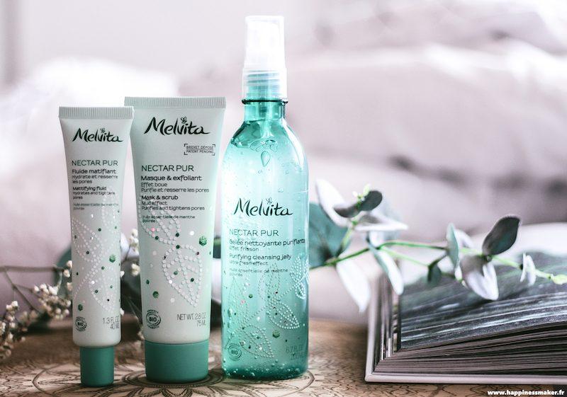 melvita nectar pur gamme peaux mixtes