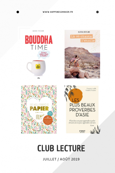 lectures pour l'été bouddha time proverbe papier scrap origamis