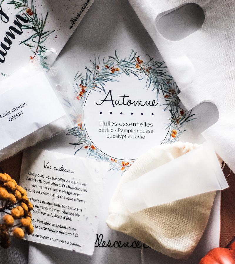 contenu box huiles essentielles automne