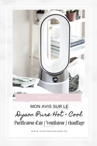 Dyson pure hot+cool ventilateur purificateur d'air chauffage avis test