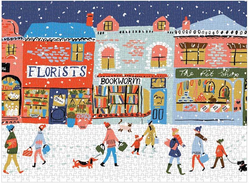 joli puzzle hiver neige