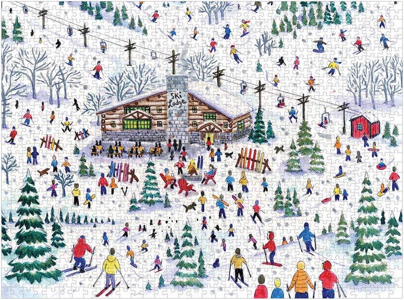 puzzle hiver ski