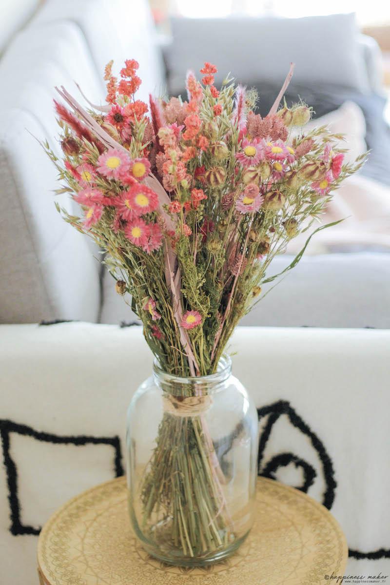 bouquet fleurs séchées interflora