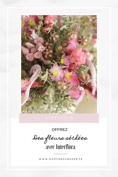 fleurs séchées interflora