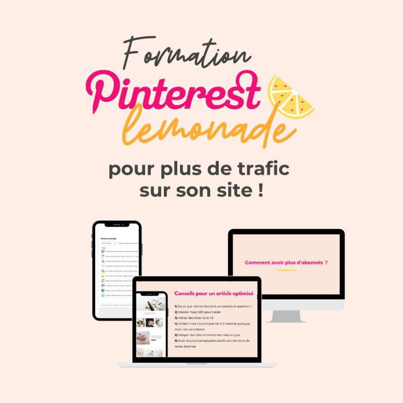 Formation Pinterest booster traffic