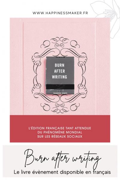 livre burn after writing en francais