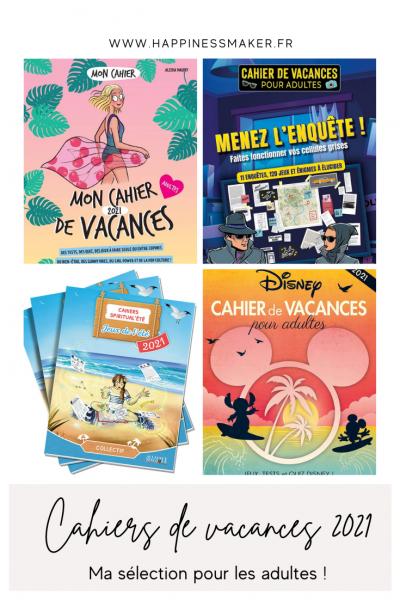 cahiers de vacances pour adultes 2021