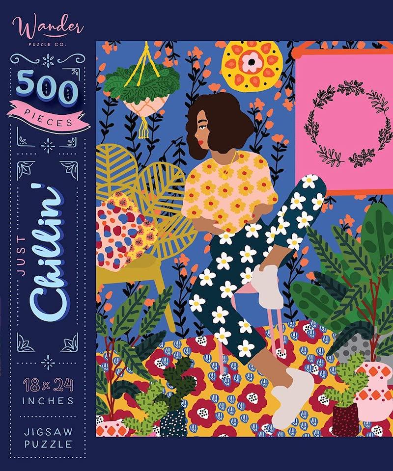 puzzle femme coloré détente hygge