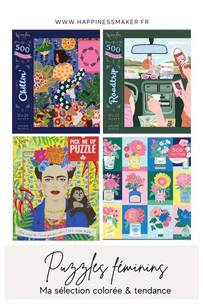 puzzles féminins colorés detente hygge deco